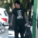 Rocker Tommy Lee stops for gas at a gas station in Calabasas, California on July 12, 2016 - 428 x 600