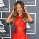 RIHANNA at 55th Annual Grammy Awards in Los Angeles