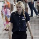 "Dakota Fanning on the set of her new film ""Very Good Girls"" on location in New York City (July 31)"