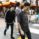 Ruby Rose is spotted out and about with some friends in Miami, Florida on January 10, 2016. Fans took pictures of the trio as they left a sushi restaurant