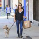 Selma Blair with her dog in Los Angeles - 454 x 324