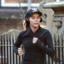 Amanda Holden in Tights Jogging in London - 454 x 564