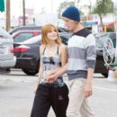 Bella Thorne hits the dance studio with boyband iam5 to practice their moves