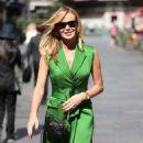 Amanda Holden in Green Mini Dress – Leaving Heart Radio in London - 454 x 681