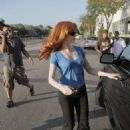 Rose McGowan - Candids in Los Angeles