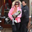 Paris Hilton enjoys another day of skiing on December 22, 2014 in Aspen, Colorado