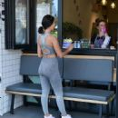 Yazmin Oukhellou – Looks sporty while getting lunch from Power of Health eatery in London