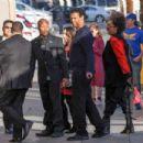Denzel Washington arriving at Jimmy Kimmel Live in Hollywood CA, February 14, 2017