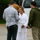 Hayden Panettiere - On The Set Of 'Fireflies In The Garden'