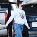 Lena Headey – With her luxury SUV in Los Angeles