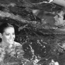 Claudine Auger and Sean Connery