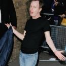 Angus Young arrives at the Kerrang! Awards on August 24, 2005 in London, England
