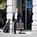 George Clooney On Nespresso Commercial In Milan