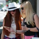 Heidi Montag seen filming their new reality show in Beverly Hills, California on July 28, 2015