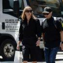 Gwyneth Paltrow with a bodyguard shopping in NY