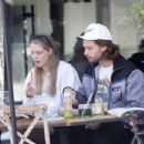 Abby Champion and Patrick Schwarzenegger – Spotted while out for lunch at Kreation in Brentwood - 454 x 348