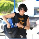 Selma Blair Working Out - The Gym In LA 4/07/10