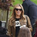 Abbey Clancy At Hampstead Heath Fain In London