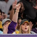 Hayden Panettiere At A Lakers Game In L.A. - November 8, 2009