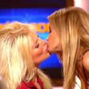 Carmen Electra and Victoria Silvstedt makes out in a French TV show
