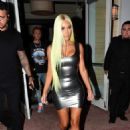 Kim Kardashian in Tight Mini Dress – Out in Miami