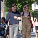 Emma Roberts with a girlfriend out in Studio City - 454 x 681