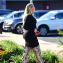 Iskra Lawrence in Black Mini Dress at a Nail Salon in New Jersey