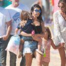 Kourtney Kardashian and kids visit the Malibu fair on September 05, 2015