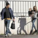 Fergie and Josh Duhamel take their son Axl out for breakfast in Brentwood, California on December 27, 2014