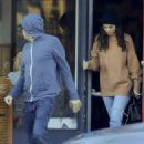 Camilla Morrone and Leonardo DiCaprio at a pizza restaurant in Los Feliz