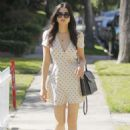 Jessica Gomes in mini dress out in Beverly Hills - 454 x 654