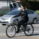 Selena Gomez – Bike Riding in Studio City