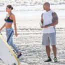 Dwayne Johnson- March 28, 2016-The Set of Baywatch - 454 x 303