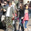 Rebecca Gayheart and her daughter Billie and Georgia are spotted out shopping at The Grove in Los Angeles, California on March 31, 2016