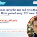 Alyssa Milano's Tweet on Corey Haim's Passing