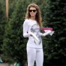 AnnaLynne McCord: went to a Christmas tree lot in Los Angeles