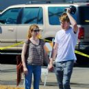 Chord Overstreet embraces girlfriend Emma Roberts on Monday (August 22) in Los Angeles