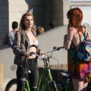Bella Thorne – Riding Bike Around Los Angeles 8/13/2016 - 454 x 317