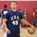 Stephen Curry #49 of the 2015 USA Basketball Men's National Team attends a practice session at the Mendenhall Center on August 11, 2015 in Las Vegas, Nevada - 454 x 591