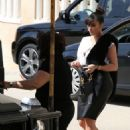 Kim Kardashian: out for lunch at The Ivy restaurant in West Hollywood