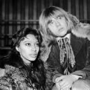 Donyale Luna and Brian Jones  during the filming of the Rolling Stones Rock & Roll Circus, December 1968 - 454 x 485