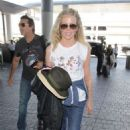 Kim Basinger in Jeans at LAX airport in Los Angeles - 454 x 681
