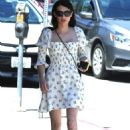Emma Roberts in Summer Mini Dress – Out in Los Angeles