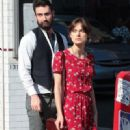 "Keira Knightley films a scene for ""Can A Song Save Your Life?"" with Maroon Five singer Adam Levine on July 3, 2012 in New York City, New York"