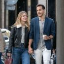 Melissa Benoist and Chris Wood: Strolling on Rue Royale in Paris 09/24/2018