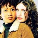 Idina Menzel and Tracie Thoms