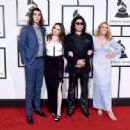 Nick Simmons, Sophie Simmons, musician Gene Simmons, and actress Shannon Tweed attend The 58th GRAMMY Awards at Staples Center on February 15, 2016 in Los Angeles, California. - 454 x 334
