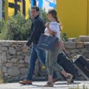 Kelly Brook at Mykonos Airport