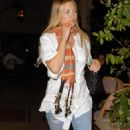 Kate Hudson At Bouchon In Beverly Hills, April 13 2010