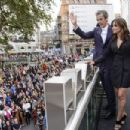 Suits Who! Jenna Coleman wows in tuxedo jacket number at Doctor Who premiere... as Peter Capaldi's Time Lord gets the thumbs up from fans